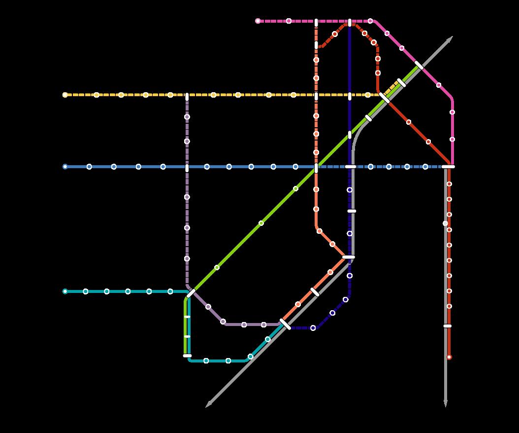 San Francisco Muni Metro Map.Nextransit Muni Metro Vision
